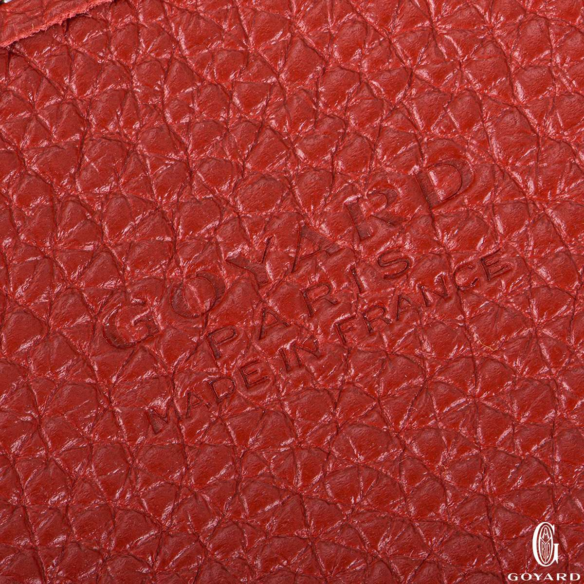 Goyard Red Goyardine Canvas Sac Hardy PM Tote Bag